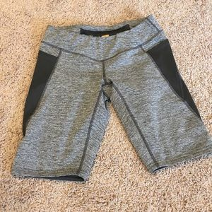 Lucy Tech Athletic Shorts Gray/Black